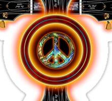 Peace,love,music  cross Sticker