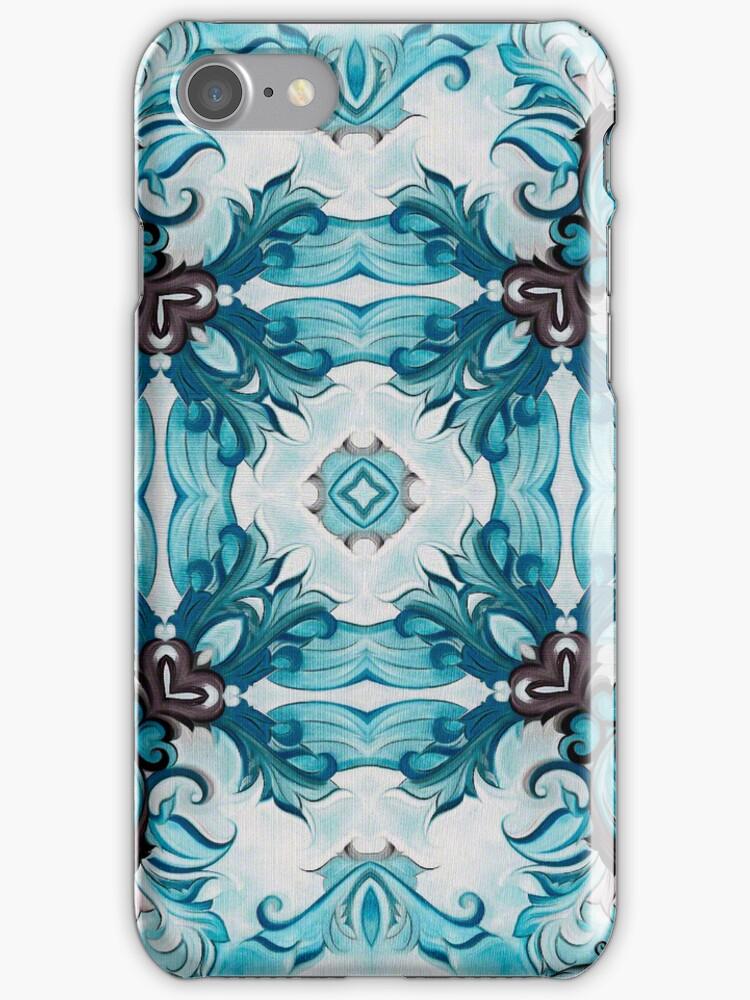 Baroque Blue Rosette- r98 by Heidivaught
