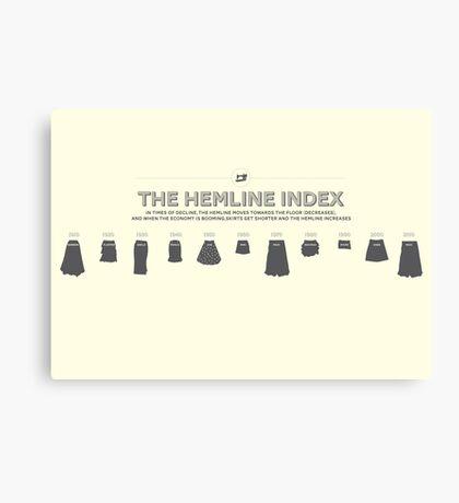 The Hemline Index Canvas Print