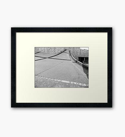 Black & Alright #6 Framed Print