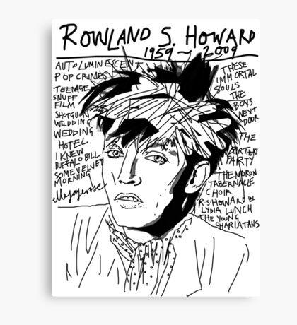 Rowland S. Howard Tribute Canvas Print