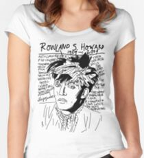 Rowland S. Howard Tribute Women's Fitted Scoop T-Shirt