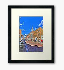 Rochester High  Street (HDR) Framed Print