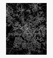 Manchester map England Photographic Print