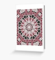 Rococo red Rosette- R102 Greeting Card