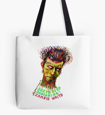 Zombie Waits Tote Bag