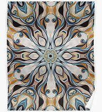 Baroque Earth tones Rosette- R107 Poster