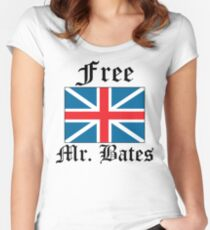 Free Mr. Bates Women's Fitted Scoop T-Shirt
