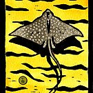 White Spotted Eagle Ray by Toradellin