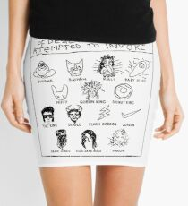 'Idols of Worship that in times of Desperation I have Attempted to Invoke' Mini Skirt