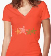Starfish 2 Women's Fitted V-Neck T-Shirt