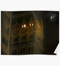 Night Time Downtown Oakland  Poster