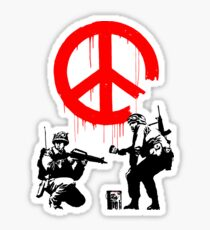 Banksy - Soldiers Painting Peace (CND Soldiers) Sticker