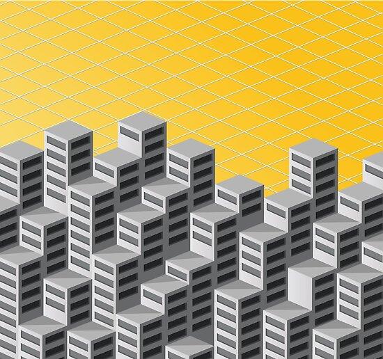 Isometric background by Alexzel