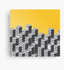 Isometric background Canvas Print