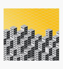 Isometric background Photographic Print