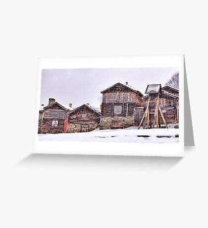 The art of snow Greeting Card