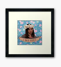 I Hate People - April Ludgate Framed Print