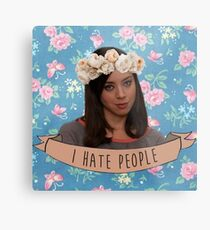I Hate People - April Ludgate Metal Print