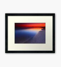 Seven Mile Beach Sunset Framed Print