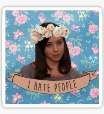 I Hate People - April Ludgate Sticker