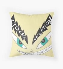 Binary Options News Caricature of Asian Trading Throw Pillow