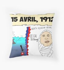 Infos Options Binaires BD 100 Ans Titanic Kim Il-Sung Throw Pillow