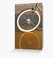 Fixie Reflections Greeting Card