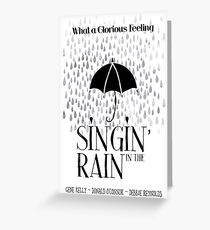 Singin' in the Rain Movie Poster Greeting Card