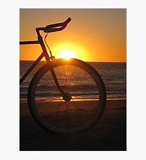 Fixie at Sunset Photographic Print