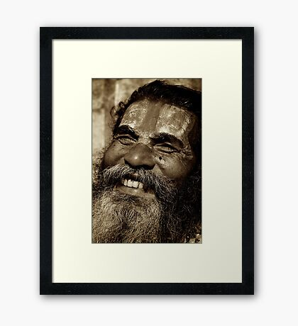 Laughing Baba Framed Print