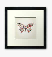 Food the butterfly Framed Print
