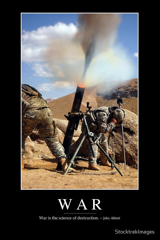 Guerra Cita Inspirada Y Cartel De Motivación De