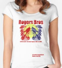 usa indians energy drink by rogers bros Women's Fitted Scoop T-Shirt