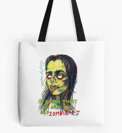 Zombie P J Tote Bag