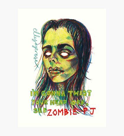 Zombie P J Art Print