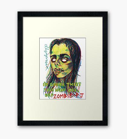 Zombie P J Framed Print