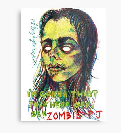Zombie P J Metal Print