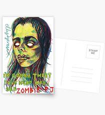 Zombie P J Postcards
