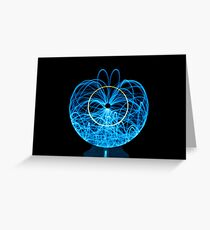 Blue Orb of Light Greeting Card