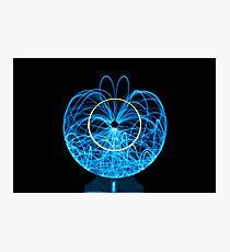Blue Orb of Light Photographic Print
