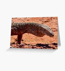 Perentie Lizard - Central Australia Greeting Card
