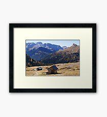 Lámina enmarcada Dolomites view