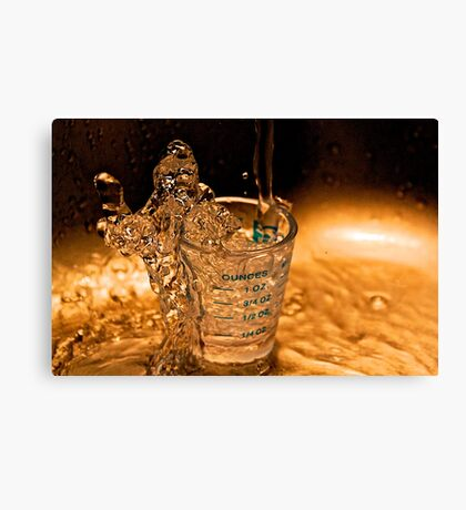 water is gold Canvas Print