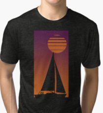 Sailboat Sunrise Tri-blend T-Shirt