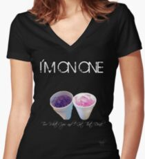 I'm On One Women's Fitted V-Neck T-Shirt