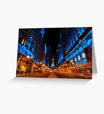 Broad Street City Lights, Philadelphia Greeting Card