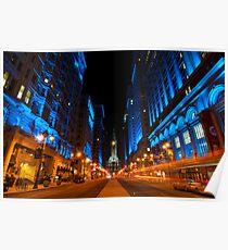 Broad Street City Lights, Philadelphia Poster