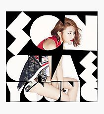 TWICE 'Son Chae-young' Typography Photographic Print