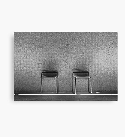 empty chairs Canvas Print